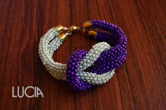 Beaded bracelet by LuciaProducts on Etsy