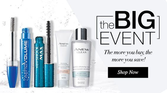 The Big Avon Event twice a year the more you buy, the more you save! Shop now Avon online at www.youravon.com/my1724 and sign up and don't miss the next Big Avon Event online!! Shop Avon current Brochure online today and spend $50 and get free shipping and 20% off use coupon code: WELCOME #AVON #AVONONLINE #BUYAVONONLINE #SHOPONLINE #BLOG #AVONBLOG #SALESREVIEWS #MAKEUP #AVONMAKEUP