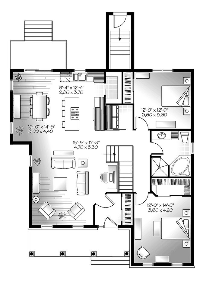 1000 ideas about one story houses on pinterest two Single story open concept floor plans