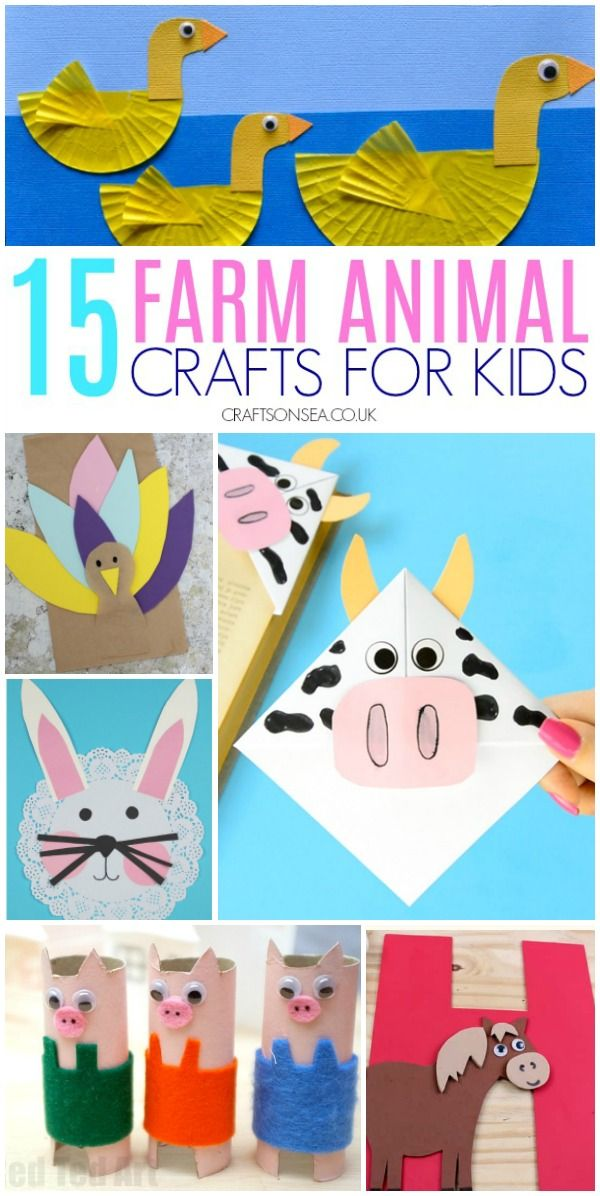 15 Farm Animal Crafts Kids Love Crafts On Sea Blog Animal