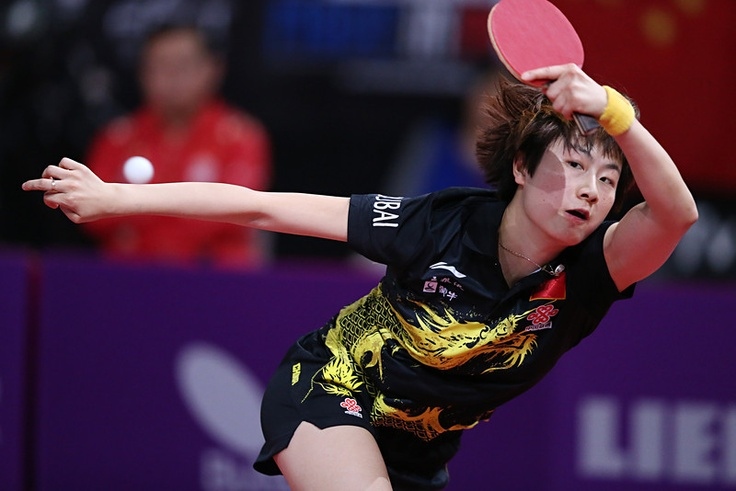 Chinas Ning Ding plays against Koreas Seonghye Park, on May 17, 2013 in Paris during the fourth round of Womens Singles at the World Table Tennis Championships. THOMAS SAMSON/AFP/Getty Images