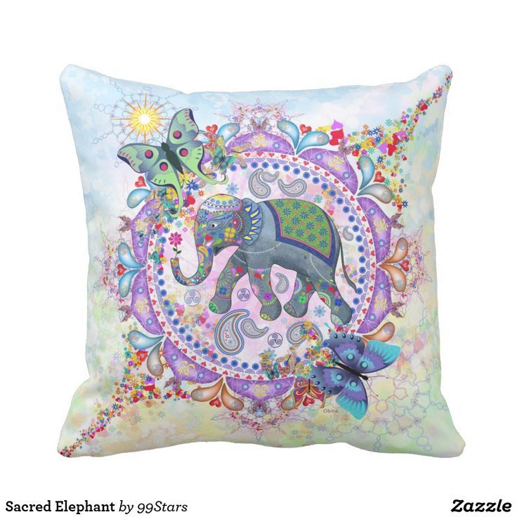 Sacred Elephant Throw Pillow