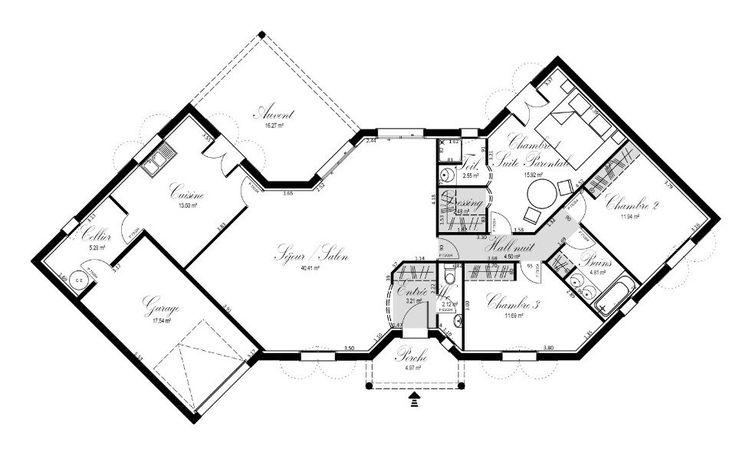 Plan achat maison neuve à construire - OC Résidences Croix du Sud | Plan maison, Plan maison 4 ...