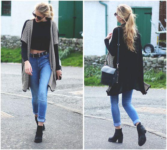Marta M - Bubble Cardigan, Zara Jeans, Primark Boots - Long cardigan