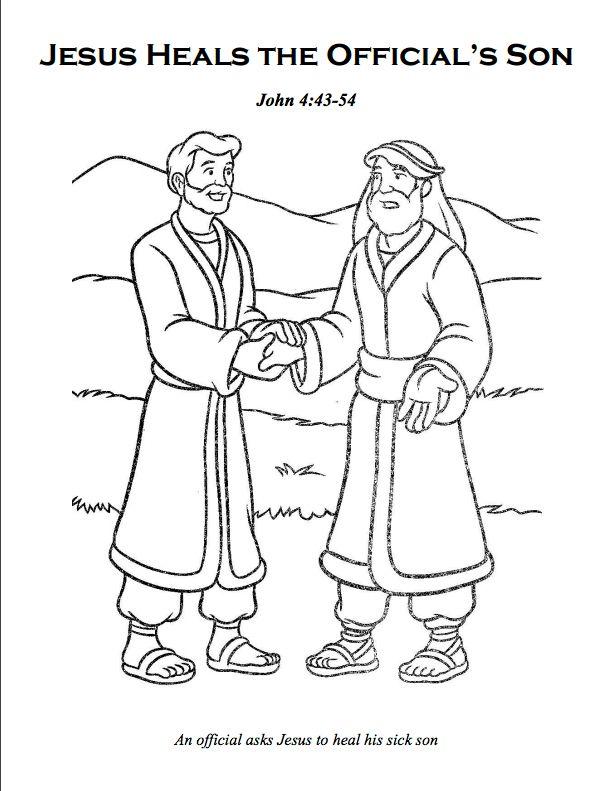 Jesus Heals A Sick Boy Toddler Craft