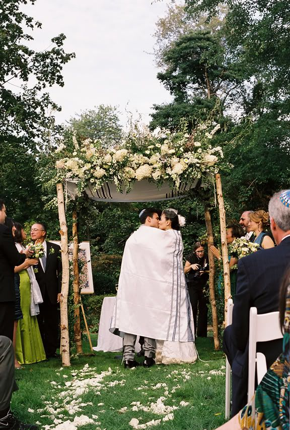 the chuppah is a little top heavy for my liking, but still pretty