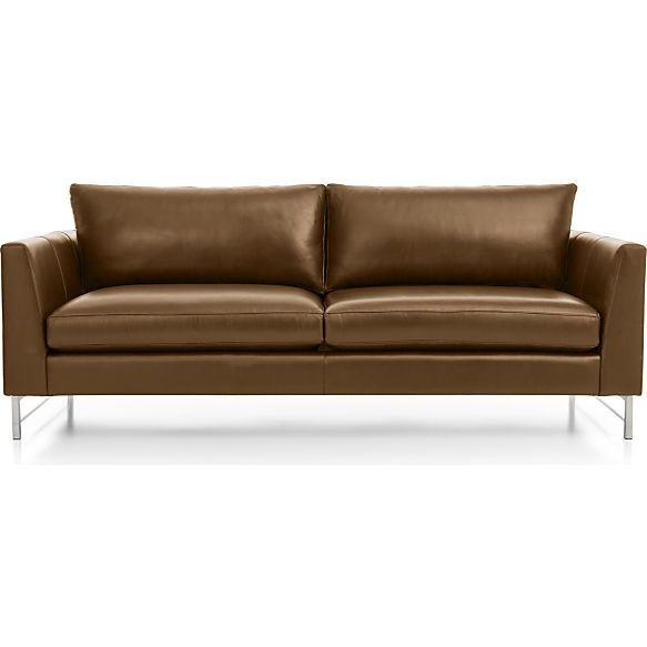 Incredible Tyson Leather Sofa With Stainless Steel Base D Bianca Gmtry Best Dining Table And Chair Ideas Images Gmtryco