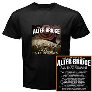 Alter Bridge the Last Hero fall tour dates nov-dec 2017 black tees; Material 100% cotton, Basic style; Short sleeve;