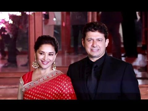 Madhuri Dixit With Dr. Sriram Nene At Shaina Nath's Daughter's Wedding Reception.