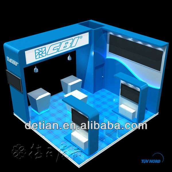 4 sides open Islnd exhibition booth 20'x 20' constract, View Island, Sophie Product Details from Shanghai Detian Display Co., Ltd. on Alibaba.com
