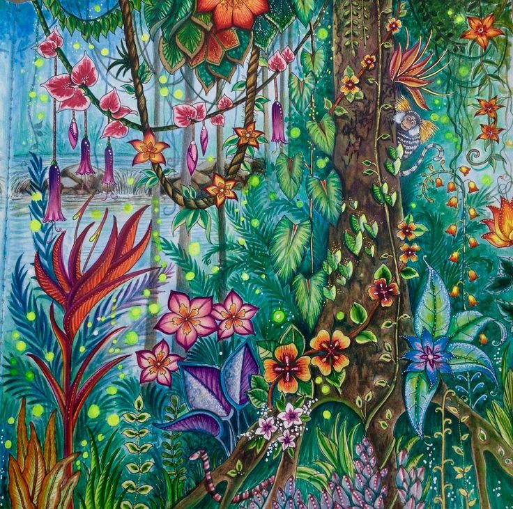 1428 Best Coloring Magical Jungle Images On Pinterest