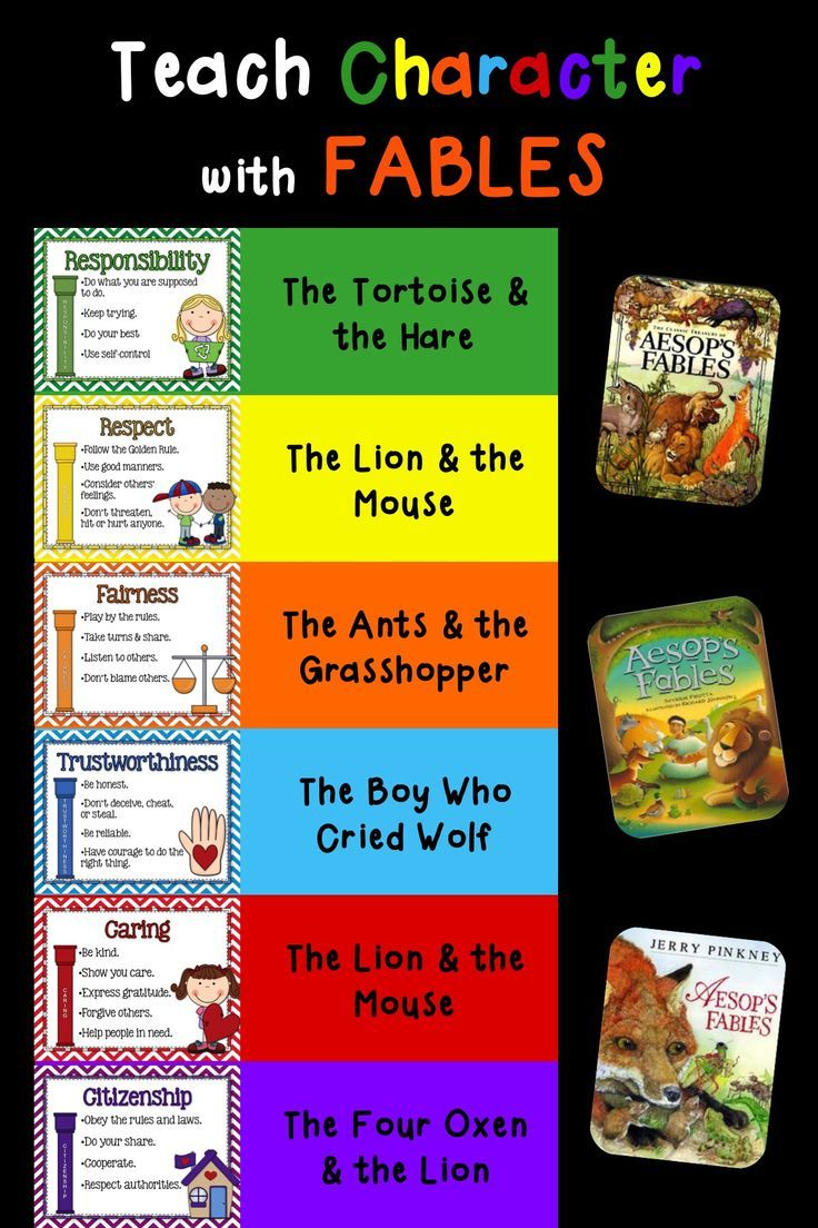 Use the Fables to Teach Character Interactive Notebook - This is a great unit that will help you develop a safe, caring classroom community. Students will learn empathy as they learn about each of these character qualities and will be totally engaged as they learn how to develop strong character. This unit covers the 6 Pillars of Character: Trustworthiness, Respect, Responsibility, Fairness, Caring, and Citizenship. $