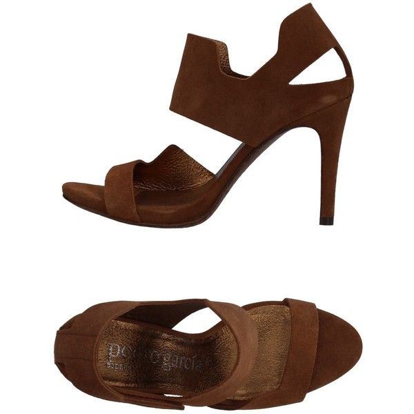 Pedro García Sandals (895 BRL) ❤ liked on Polyvore featuring shoes, sandals, cocoa, leather shoes, leather sandals, genuine leather shoes, round toe sandals and pedro garcia sandals