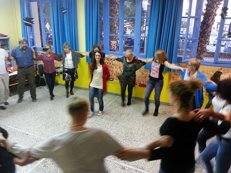 Greek dancing is always relaxing and possible for everybody. During the OMILO Greek courses, we regularly offer Greek dance lessons . www.omilo.com