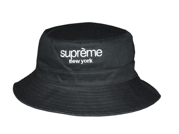 "Mens Supreme The Supreme ""New York"" City Series Golf Camp Fashion Fishing Bucket Hat - Black"
