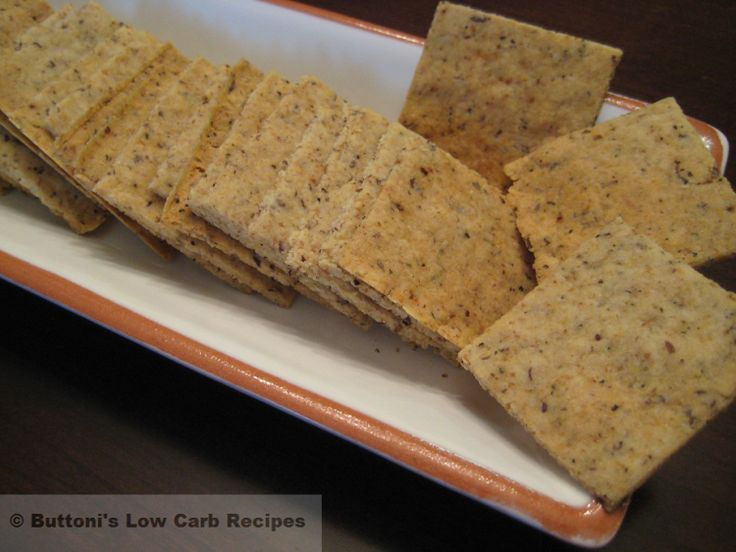 Crisp Crackers (made with almond flour, flax meal, arrowroot, and oat flour)