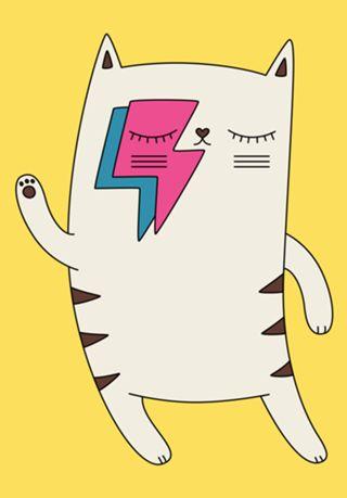 Compre Bowie cat de @elebea em posters de alta qualidade. Incentive artistas independentes, encontre produtos exclusivos.