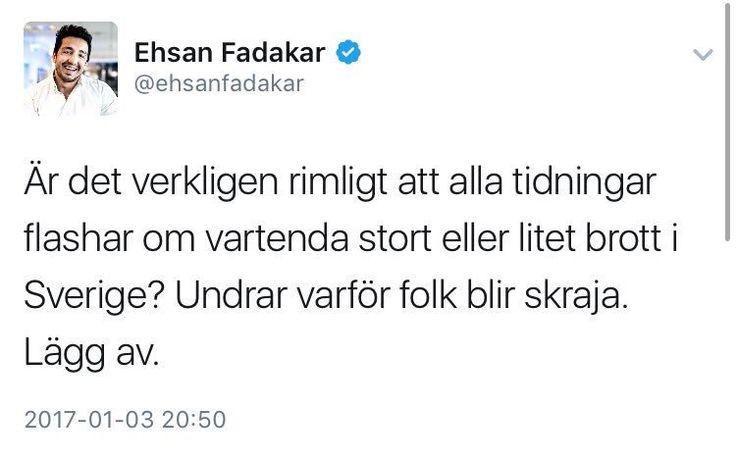 RT @BlottGott: @frickhilda Självklart skriven av #ACAB-aktivisten Ehsan Fadakar