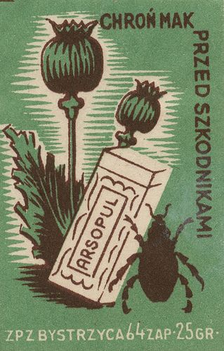 Opium poppies. Polish matchbox label by maraid, via Flickr