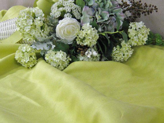 Zoffany Fabrics Chartreuse Linen Fabric by Fabricsflowersgalore