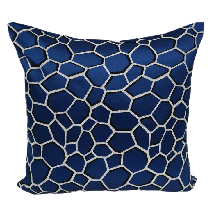 Chic Modern Satin Poly Geometric Throw Throw Pillowby Home Accent Pillows