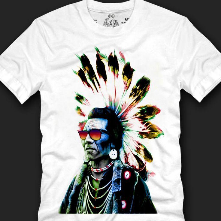 Men's T- shirts Cotton Trendy Look Unique Fashion Style, indian chief eagle copy #Koreanleadingfashiontrends #GraphicTee