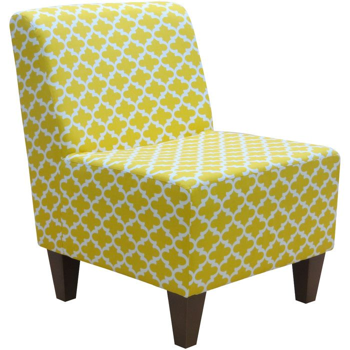 Fox Hill Trading Penelope Armless Fulton Corn Yellow Slipper Chair & Reviews | Wayfair