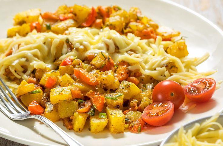 Овощное рагу с сыром