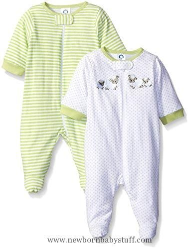 e9ed00e40f86 Baby Girl Clothes Gerber Unisex Baby 2 Pack Zip Front Sleep  N Play ...