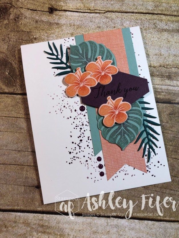 Gdp145 Tropical Chic With Images Cards Handmade Chic Cards