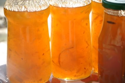 Confiture de citre à l'orange et à la vanille