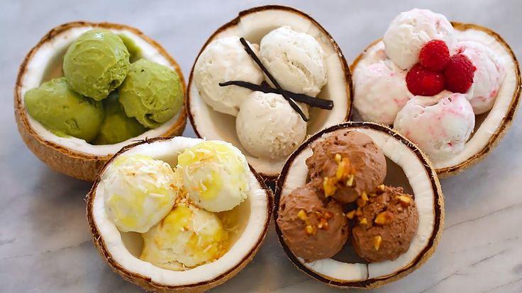 5 NEW Ice Cream Flavors + Dairy-Free Coconut Recipe: Homemade Ice Cream ...