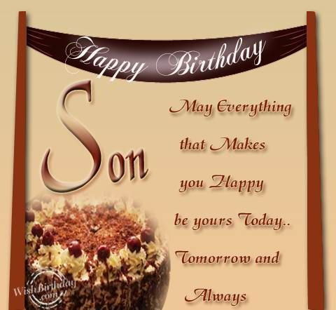 Happy Birthday To Grown Son Birthday Wishes For Son Birthday