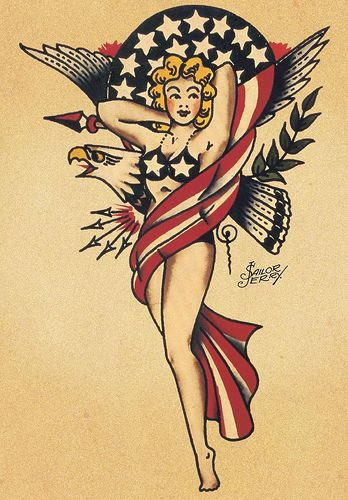 "Pin-Up Girl by Norman ""Sailor Jerry"" Collins"