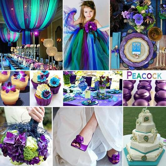 Peacock wedding... wow, peacock blue and purple weddings