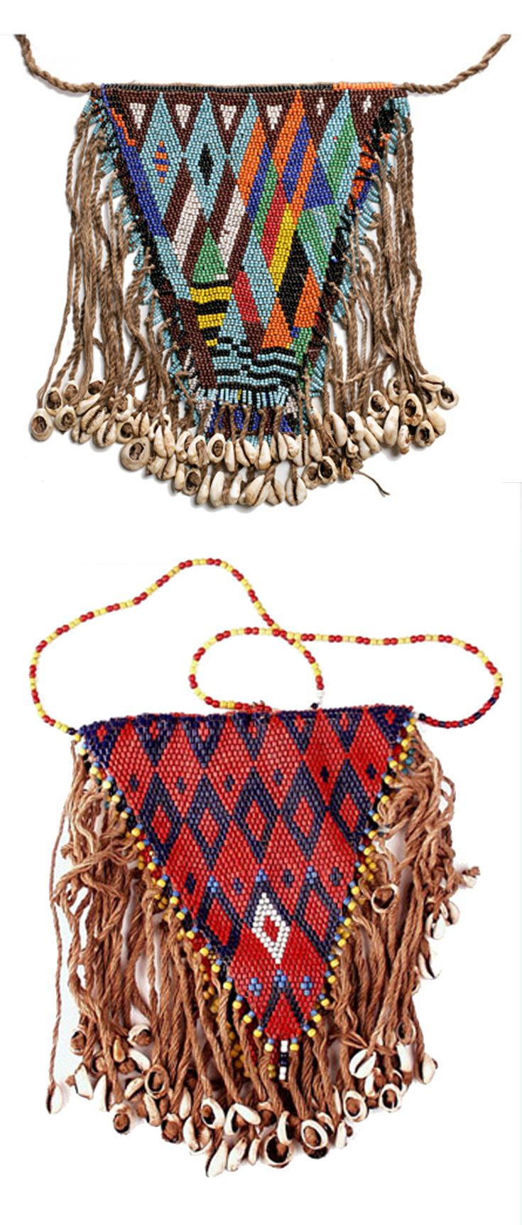 Africa | Woman's armbags from the Kirdi people of Northern Cameroon | Glass…