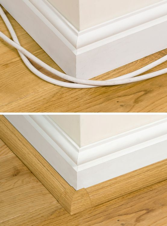 Decorative trunking / raceway that shows innovative ways to hide cables or cords safely and stylishly