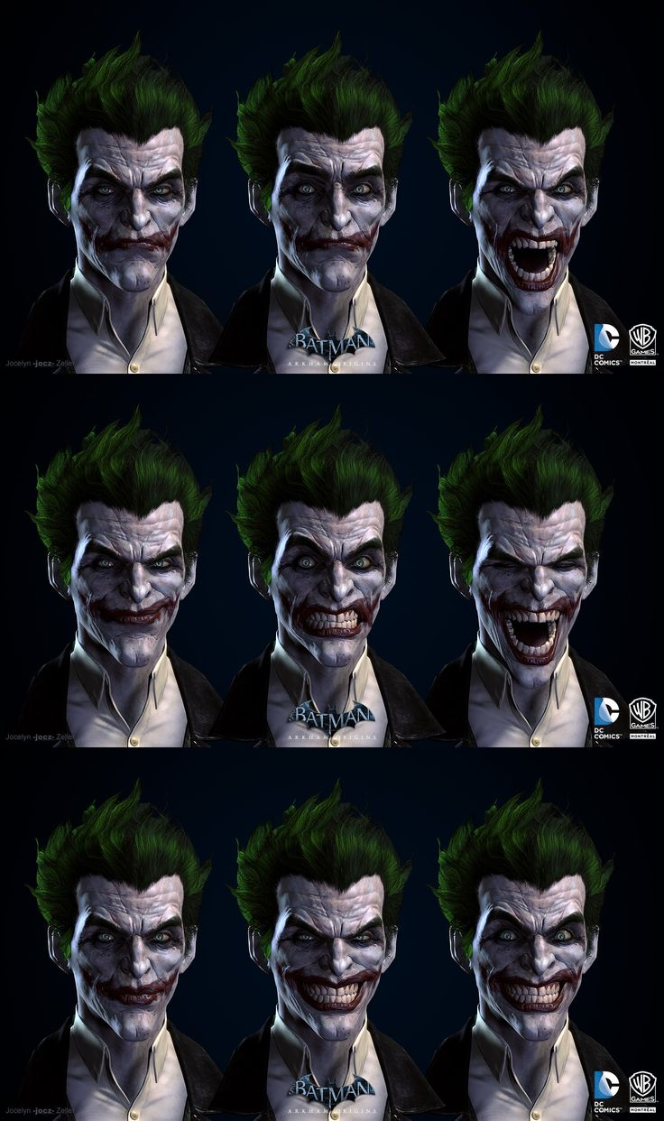 Batman: Arkham Origins, Joker Blendshapes by jocz