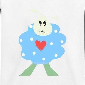 Blue polka dot sheep