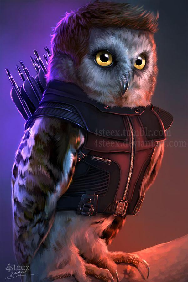 The Owlvengers - Hawkeye owl by 4steex.deviantart.com on @DeviantArt