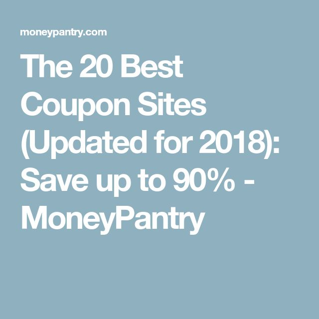 The 20 Best Coupon Sites (Updated for 2018): Save up to 90% - MoneyPantry