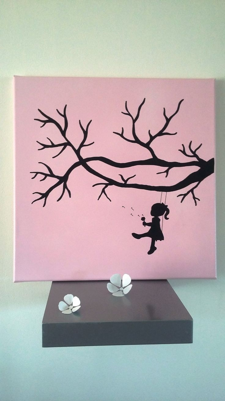 """arbre à empreintes """" petite bulle de bonheur """" rose : Décorations murales par stefebricole"""