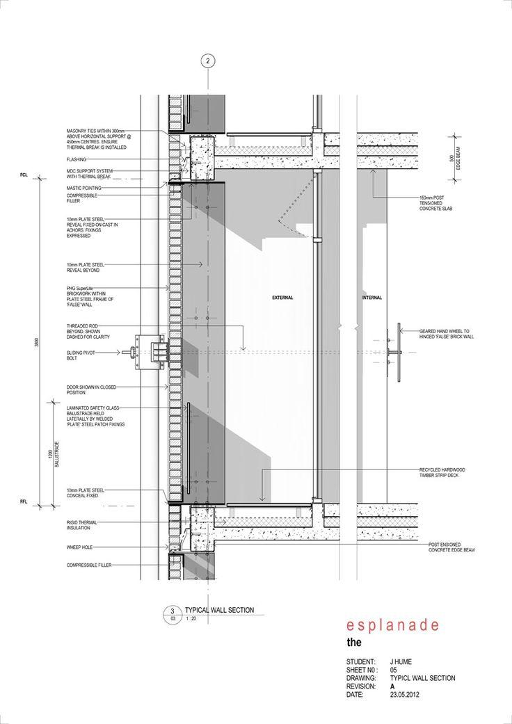 High Rise 2012 - brick facade section detail