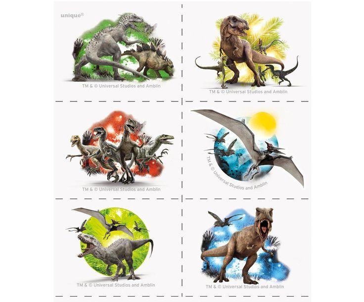 Jurassic World Tattoos from BirthdayExpress.com