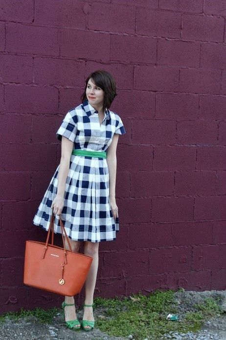 #plaiddress #navy #white #shirtdress #readyforspring