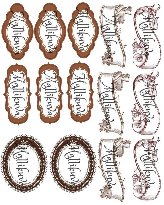 Printable labels and banners by ZaraTreasures on Etsy