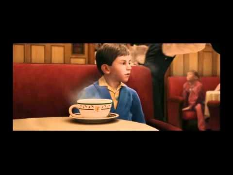 Hot Chocolate  - The Polar Express    Wyatt's favorite scene is when the *hot chocolate man's* come out lol