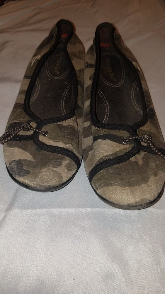 ba976aee1f27b  15 Terrasoles Camo Canvas Ballet Flats - Slip ons - Size 8  fashion   clothing  shoes  accessories  womensshoes  flats (ebay link)
