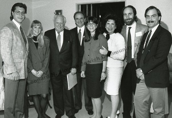 Leon Uris (3rd from left) visited Detroit to speak at a meeting about Operation Exodus - a plan to resettle thousands of Russian Jews. #JewishCommunityArchives25 #12for25 #MakingAHome