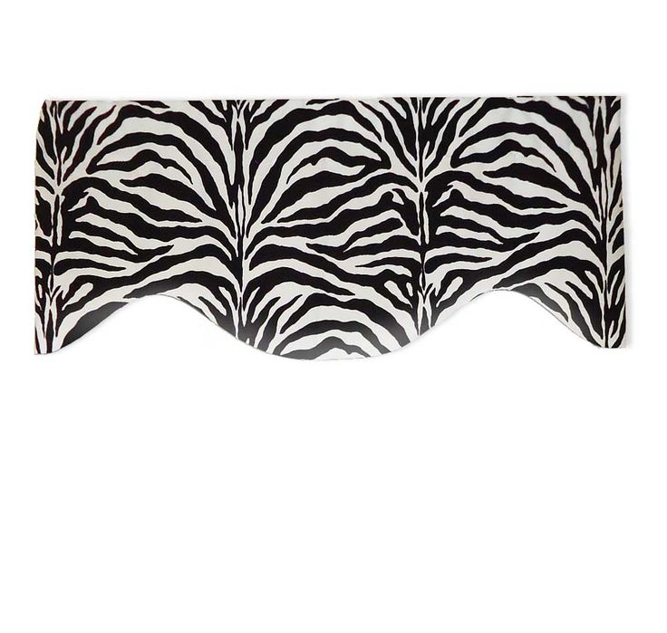 Contemporary Black And White Zebra Valance Curtain Custom Valances Valance White Zebra
